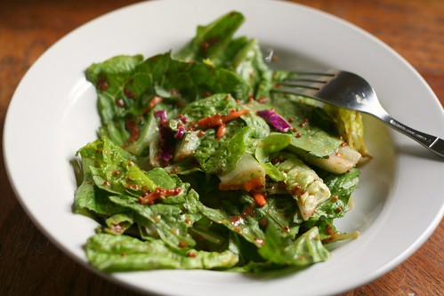 Summer Salad (w/ my fave dressing of the moment)