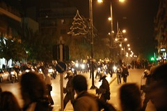 Cops with bikes provoking protesters in Athens Polytechnic uprising protest 2009 19:05:10