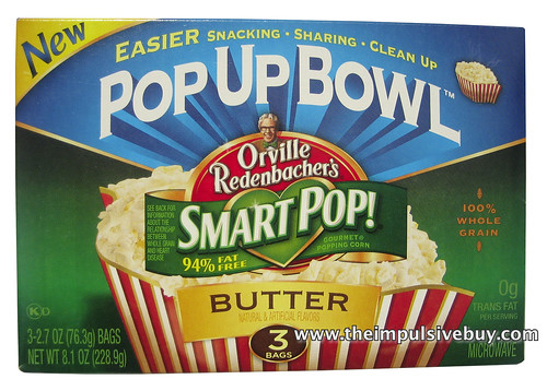 Orville Redenbacher's Smart Pop! Butter Pop Up Bowl
