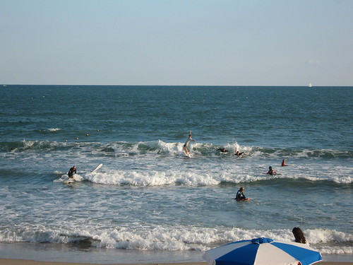 Surfers in the Water