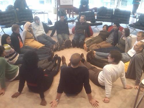 SI Fellows circle up