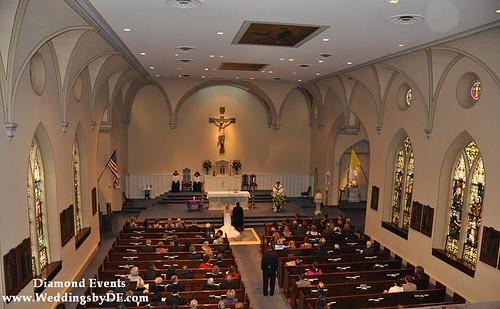 Wedding at St. Mary's Catholic Church Alexandria Virginia