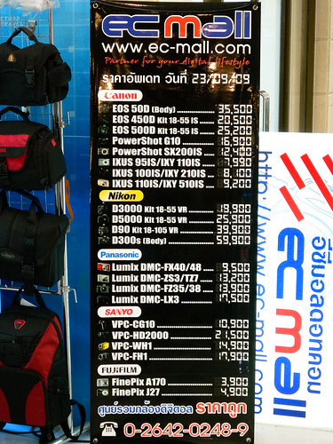 Camera Prices in Thailand