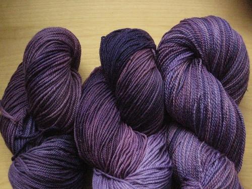 A range of medium dusty purples