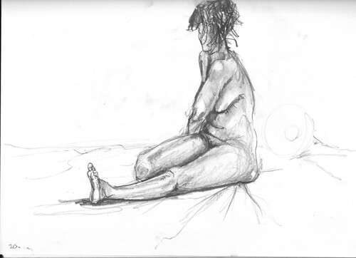 Life drawing 20min pose 10.08.09