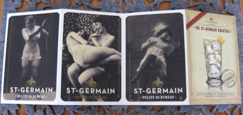 St. Germain vintage postcards - no photo of the aforementioned butts one because I gave it away.