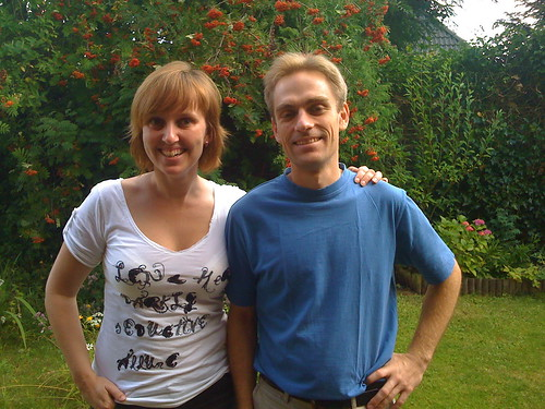 our couchsurfing host for the night 'linguist' lennart with chantal