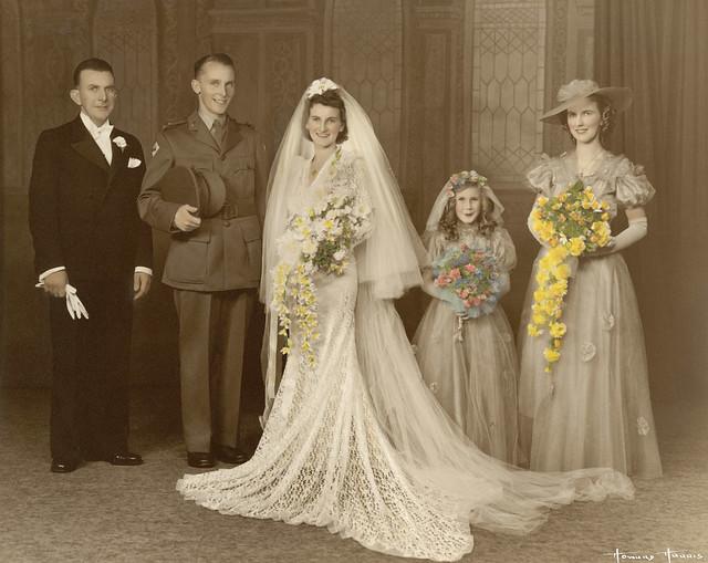 Norma Bissaker and Frank Bissaker on their wedding day, 1941