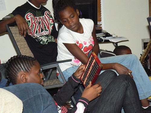 Computer Literacy Program - Reisha and Vick with Abacus