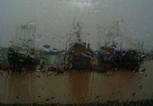 Moss Landing boats in rain