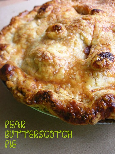 pear butterscotch pie