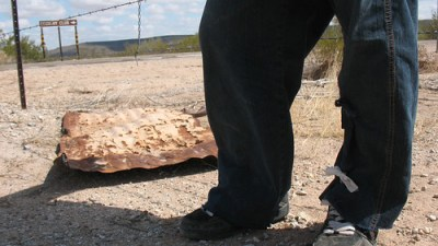 A Mexican migrant in the Arizona desert - Photo: Valeria Fernández.