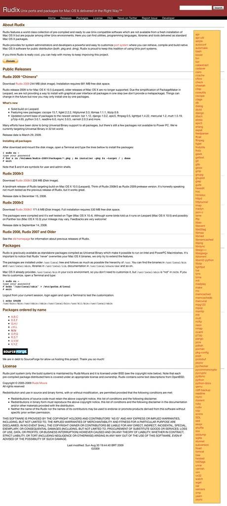 colección aplicaciones Unix para Mac bien hechas