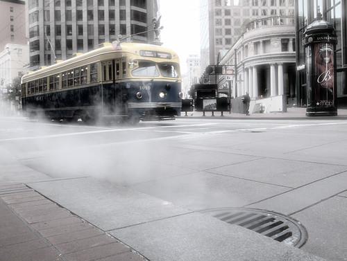 F line rolls on fog