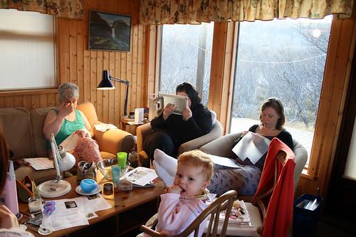 Guðbjörg, Rósa, Erla Björk and Amelía