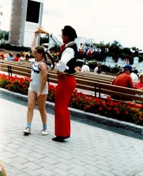 World Showcase dancer and zanna
