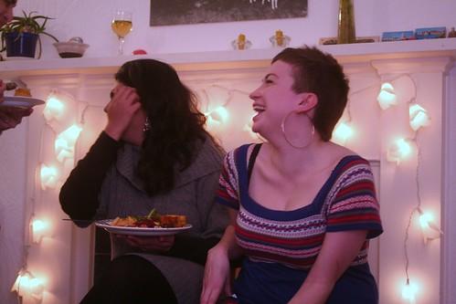 janey and malavika, laughing