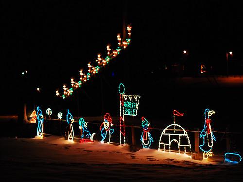 Santa's Sleigh over the North Pole