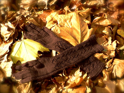 Herringbone Opera Gloves