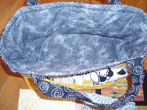 Quilted Basket Inside by Van Os