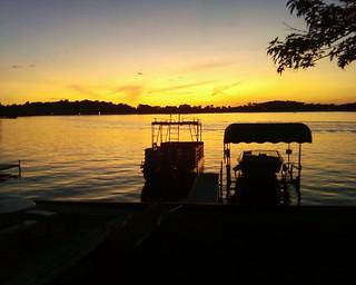 Sunset at Sister Lakes, Michigan