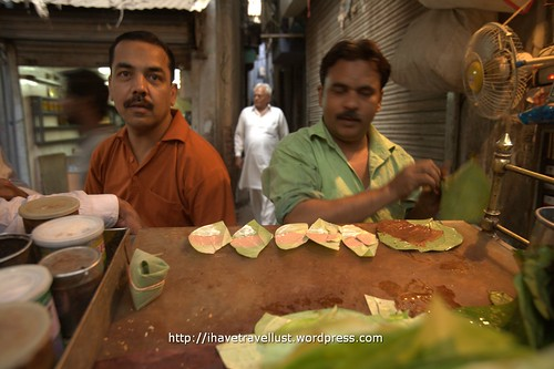 Old Delhi : Sweet Paan Betel nut leaf