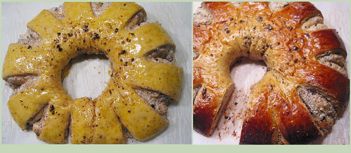 rustic looking baked babka ring