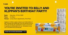 Ikea Billy & Klippan's Birthday Party