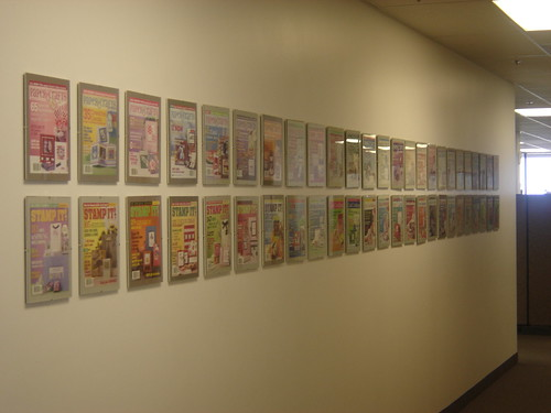 If you take a right youll see a long hallway that houses pictures of all of our covers over the years.