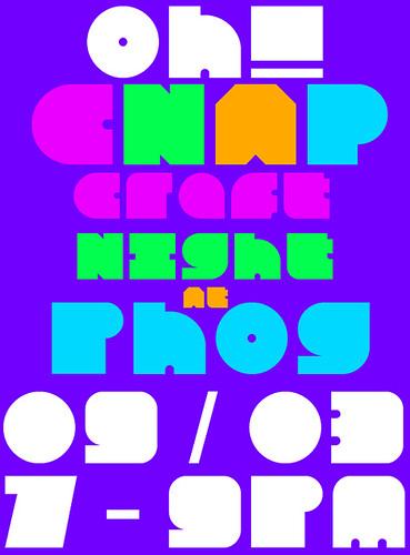 CNAP Craft Night At Phog Poster
