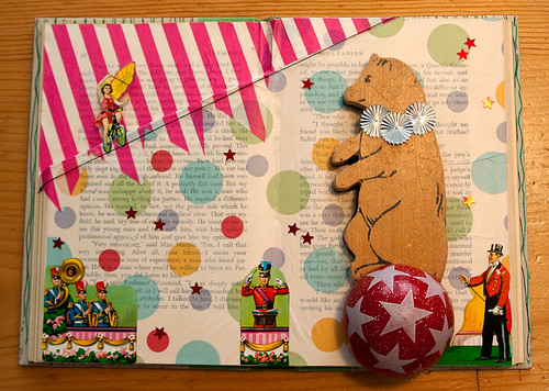 Altered Book: Bears Never Dream of Running Away to Join the Circus