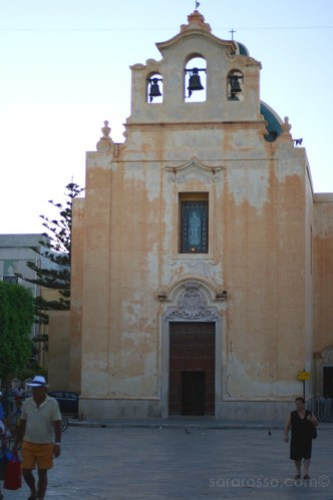 The Church at Praia, Favignana Island, Sicily, Italy
