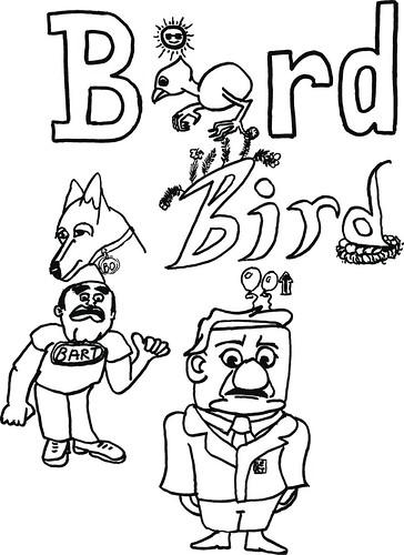 Bird, Bart, Bo, Bert doodle