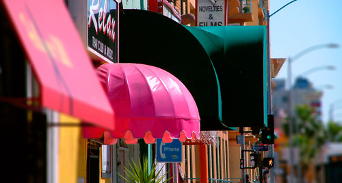 A colorful collection of small businesses line Hollywood Boulevard in Thai Town.