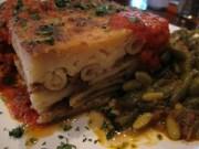 mykonos taverna - pastitsio up close