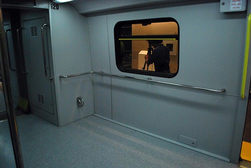 Bicycle and luggage area of train