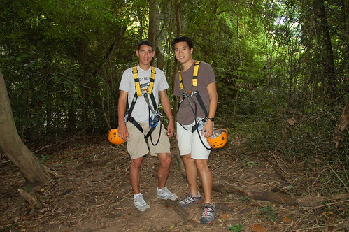 Getting ready for the zip lines (Chonburi, Thailand)