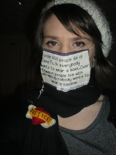 HIV Swine Flu mask