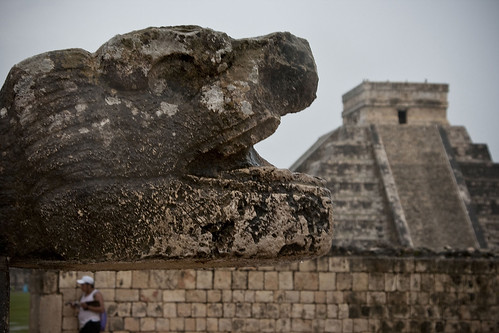 snake with chichen itza