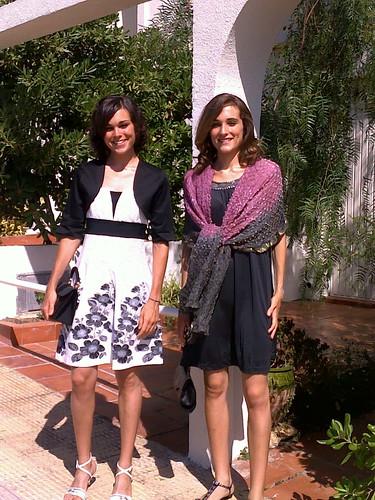 mi hermana y yo de boda