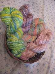 basket of handspun