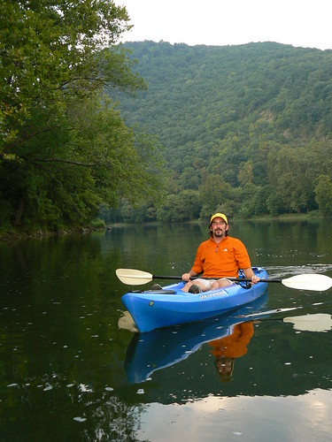 Kayaking in Eggleson - Tony on River