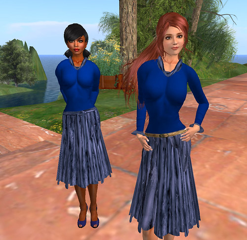 Modeling a Navy Blue outfit for Trill Lomu