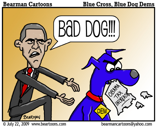 7 22 09 Bearman Cartoon Bad Blue Dog