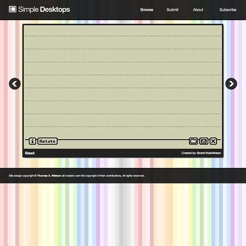 Newt: Simple Desktops by splorp.