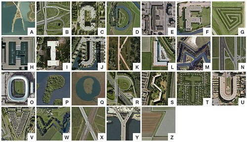 Google Earth alphabet - The Netherlands - capitals by Thomas de Bruin.