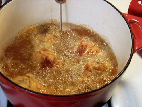 first batch frying