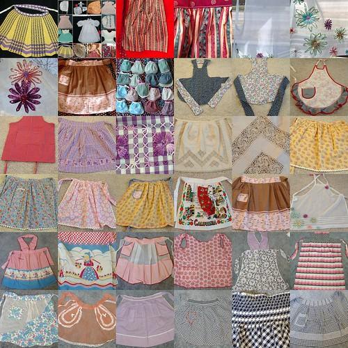 a few aprons