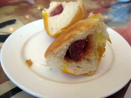 Baked Chinese Sausage Buns