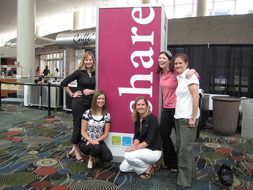 "Kelly Smith, Brittany Beattie, me, Megan Hoeppner and Brenda Peterson ""sharing"" the fun!"